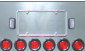 UNIVERSAL REAR CENTER PANEL WITH 4'' LED LIGHTS (4x) + 2'' LED LIGHTS (6x)